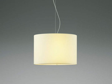 【法人限定】XP44540L【コイズミ照明】LEDペンダント電球形LEDランプLDA5(E26)本体:鋼・ホワイトブロンズメッキセード:布・白色下面セード:布・白色【返品種別B】