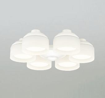【法人限定】WF266LC【オーデリック】シーリングファン灯具(乳白ケシガラス・6灯) WF801P1専用~8畳【返品種別B】