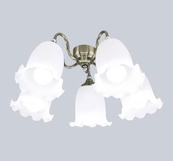 【法人限定】WF688NC【オーデリック】シーリングファン 灯具[ケシガラスグローブ・5灯] 調光器不可~10畳【返品種別B】