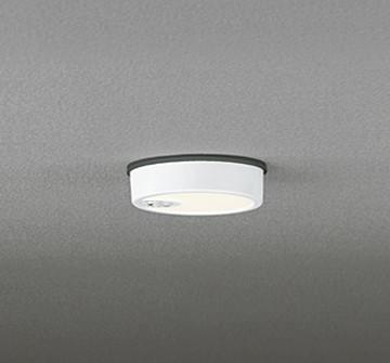 OG254534 [ OG254534 ]【オーデリック】 照明器具軒下用LED小型シーリングライト FLAT PLATE [フラットプレート エクステリア]電球色 白熱灯60W相当 人感センサ ON-OFF型【返品種別B】