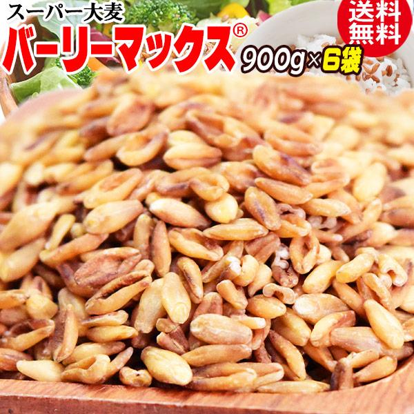 【6/25以降の発送予定】 スーパー大麦 バーリーマックス 900g×6袋 送料無料 レジスタントスターチ