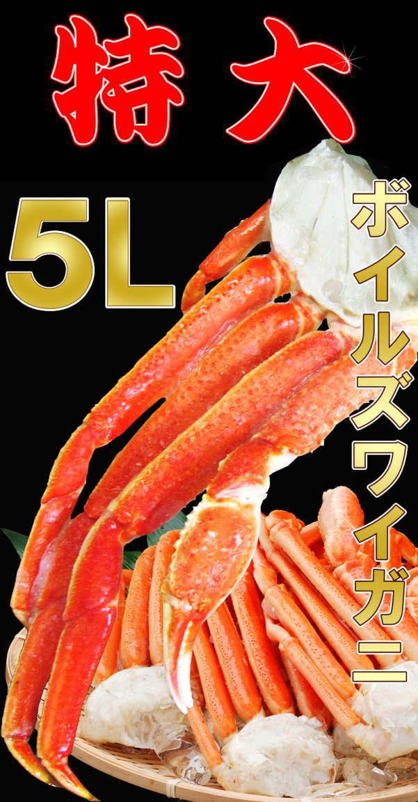 【8月16日以降の発送予定】 かに カニ 蟹 ズワイ ズワイガニ 5L 約 2kg (正味1.6kg)5肩入  ロシア産・ノルウェー産