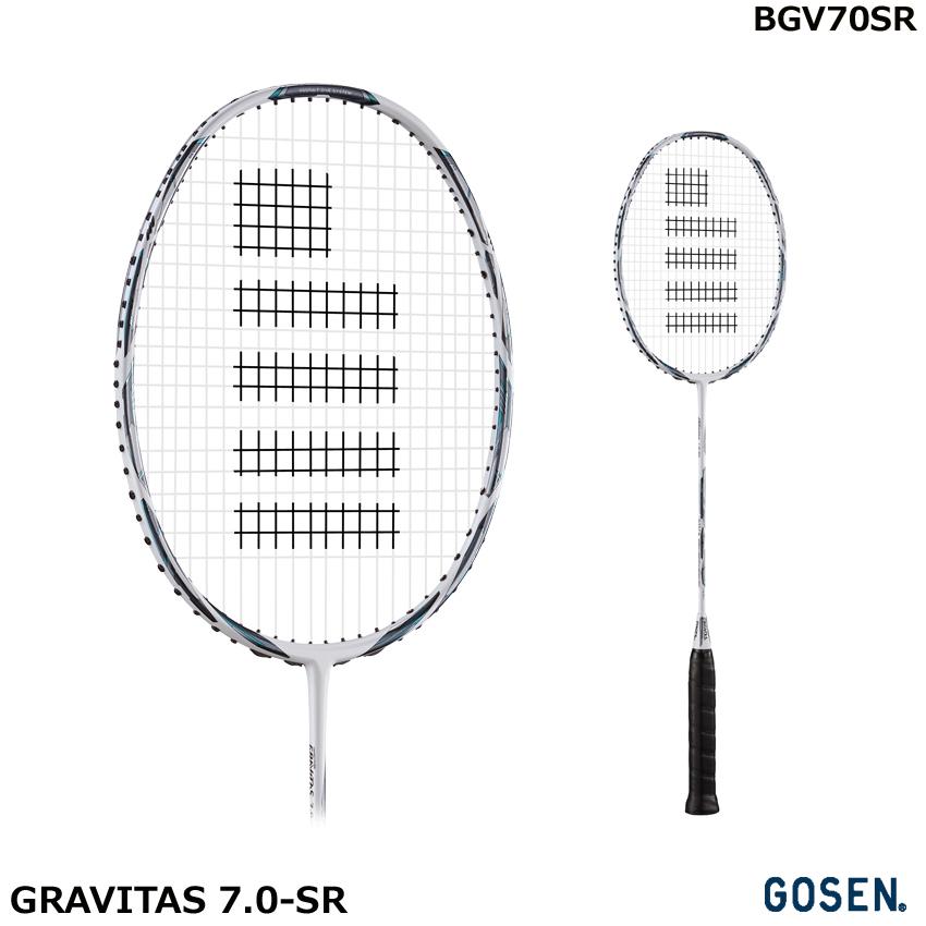 【2018年12月新商品】バドミントンラケット GRAVITAS 7.0-SR グラビタス7.0-SR BGV70SR サイズ4U5G ゴーセン