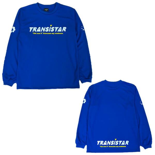 激安通販ショッピング スポーツ用品専門店 オノヤスポーツ TRANSISTAR トランジスタ HEX-ICON DRY L S 即出荷 メンズ 20SS BLUE HB20TS01 ハンドボールウェア スポーツ用品 Tシャツ