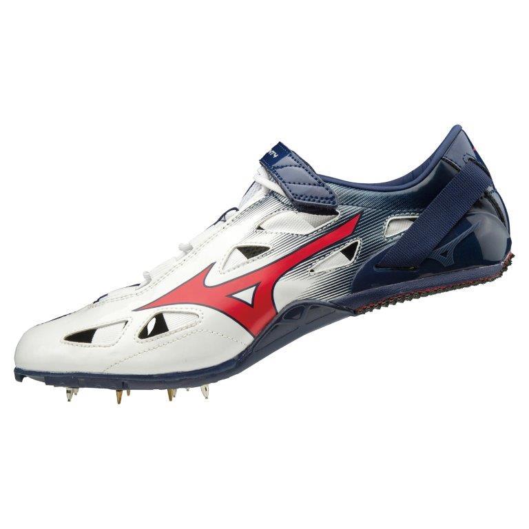 ミズノ ジオスプリント4 陸上スパイク ホワイト×レッド×ネイビー U1GA201018【スポーツ用品】