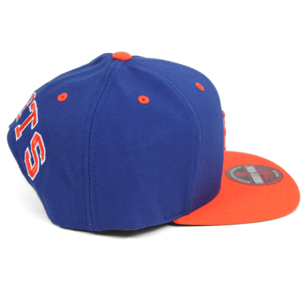 needle cap snap new york blue hat mets logo font australia