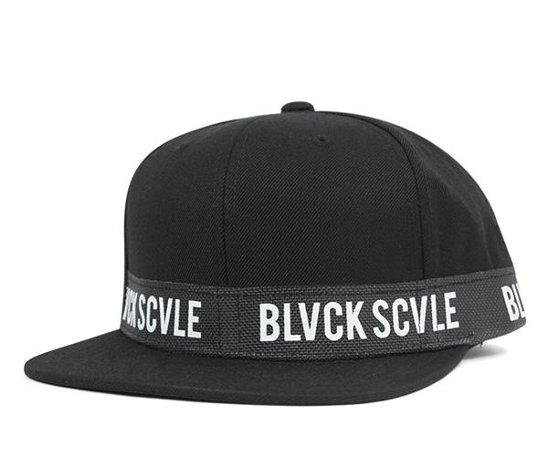 黑色规模突然弹回盖子巴厘杆黑色帽子SNAPBACK CAP BVVLISTIC BLACK[BK]#CP:S