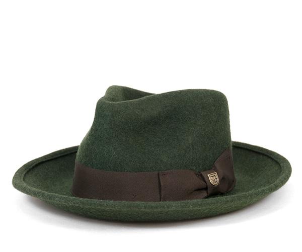 ブリクストン(BRIXTON)フェドラハット スウィンドル ヘザーモス 帽子 FEDORA HAT SWINDLE HEATHER MOSS