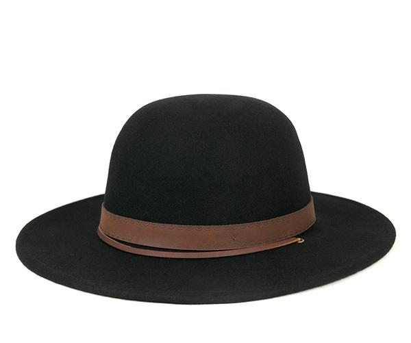 ブリクストン(BRIXTON)フェルト ハット デッドウッド ブラウン 帽子 FELT HAT DEADWOOD BLACK