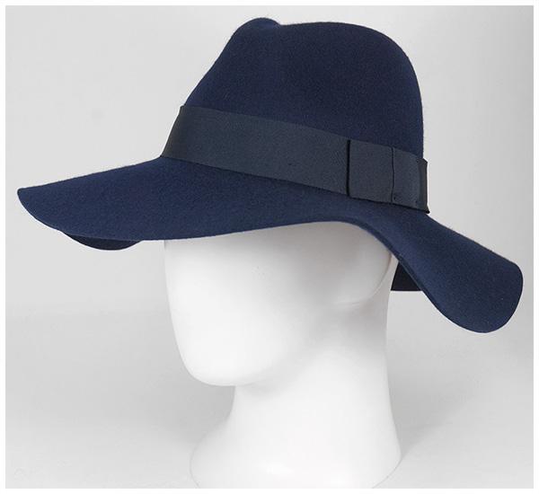 帽子 ハット WOMENS FELT HAT PIPER NAVY (BRIXTON) ブリクストン フェルト パイパー ストライプネイビー