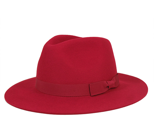 2c6f058d59a3b Brixton Fedora hat in red hats BRIXTON WOMENS FEDORA HAT INDIANA RED ...