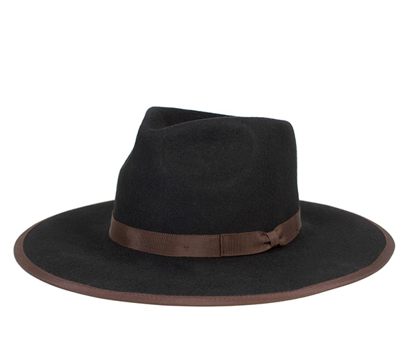 890c25e830c0c Brixton Fedora Hat Homestead Black Hat BRIXTON FEDORA HAT HOMESTEAD BLACK  ...