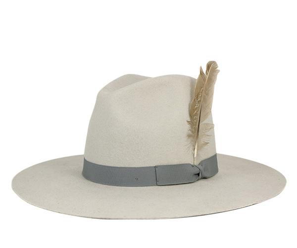 ブリクストン(BRIXTON)ウィメンズ フェドラハット クロスロード シルバー 帽子 WOMENS FEDORA HAT CROSSROADS SILVER