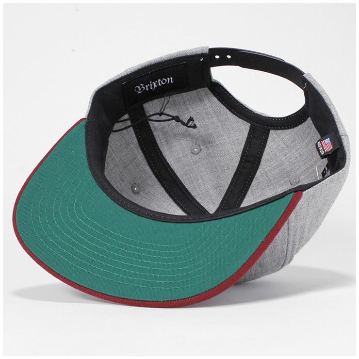 284e944b8e2c onspotz: Brixton (BRIXTON) snapback cap cue gray hat men gap Dis ...