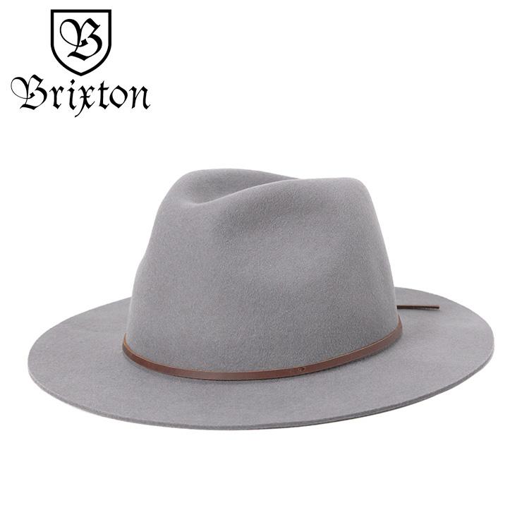d0b96221079f7 ブリクストン イヤーマフ フェドラハット WESLEY グレー BRIXTON:帽子屋 ...