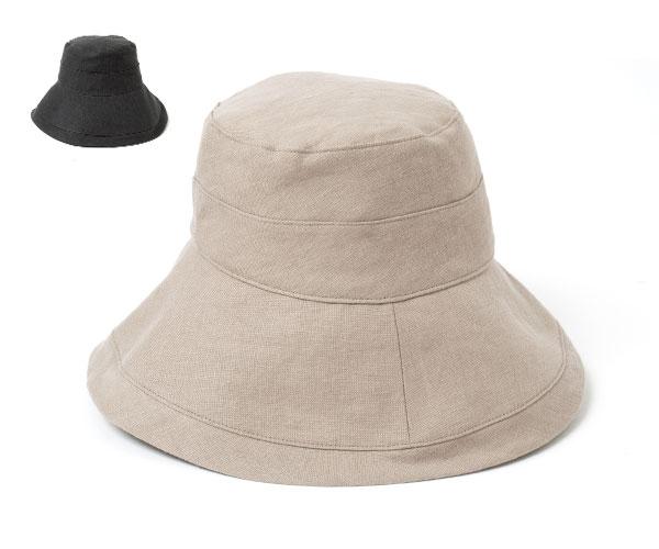 帽子 レディース つば広 キャンペーンもお見逃しなく ハット フェヌア KOFU-A セールSALE%OFF クロッシェ 日本製 リネンハット