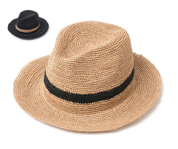 帽子 レディース 中折れ 麦わら帽子 フェヌア HORA RIPE 中折れ ストローハット
