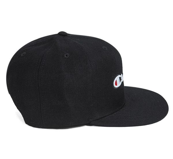 Champion Snapback Cap script black CHAMPION SNAPBACK CAP SCRIPT BLACK [Cap men Hat Snapback]
