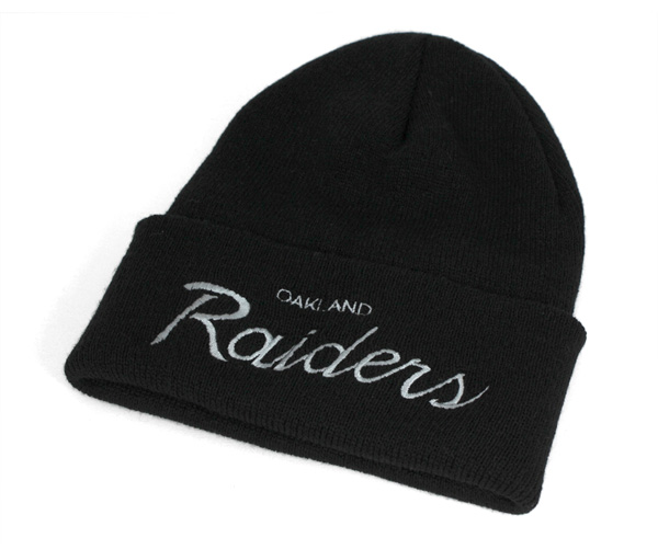 8ae6f39668573 Mitchell and Ness knit caps knitting Hat Oakland Raiders Hat MITCHELL NESS  CAP NFL THROWBACKS SCRIPT ...