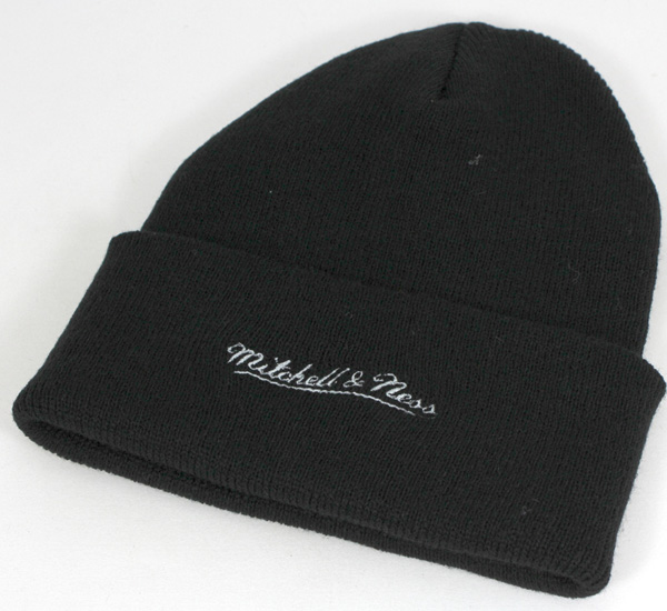 6b4ef56e92f0f Mitchell and Ness knit caps knitting Hat Oakland Raiders Hat MITCHELL NESS  CAP NFL THROWBACKS SCRIPT CUFFED POM KNIT HAT OAKLAND RAIDERS BLACK knit Cap  ...
