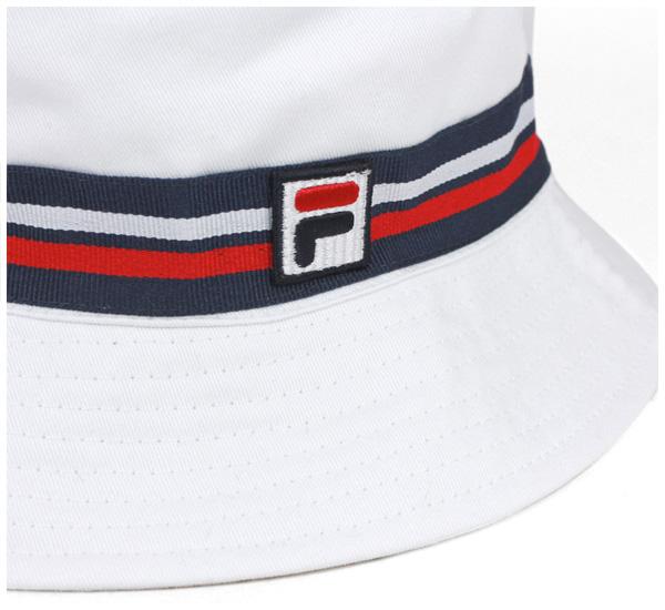 Fira 桶白色帽子 FILA 斗帽白 [帽子大尺寸男装女装] [WH] #HA: O