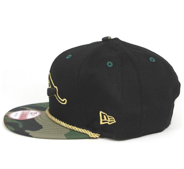新埃拉×Franks排骨肉店鋪突然彈回蓋子黄金繩索鐳射黑色帽子New Era×FRANKS CHOP SHOP 9FIFTY CAP GOLD ROPE RAZOR BLACK[新埃拉蓋子突然彈回New Era CAP人][BK]#CP:S