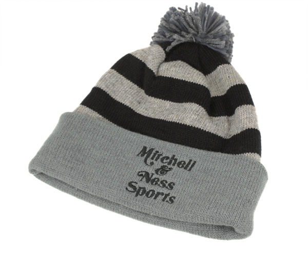 brand new fea6c f22f9 Mitchell and Ness knit Cap speckle Crown with stripes  amp amp  Heather  Pont  amp