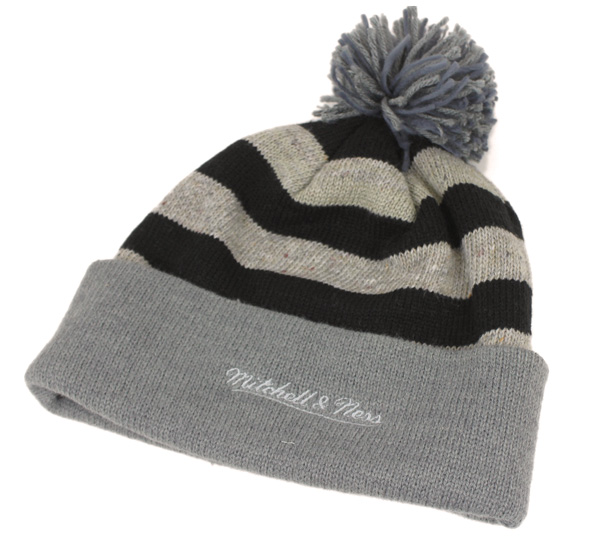 d46fe2728 Mitchell and Ness knit Cap speckle Crown with stripes & Heather Pont & cuff  oatmeal Hat MITCHELL NESS KNIT CAP SPECKLED CROWN WITH STRIPE AND ...