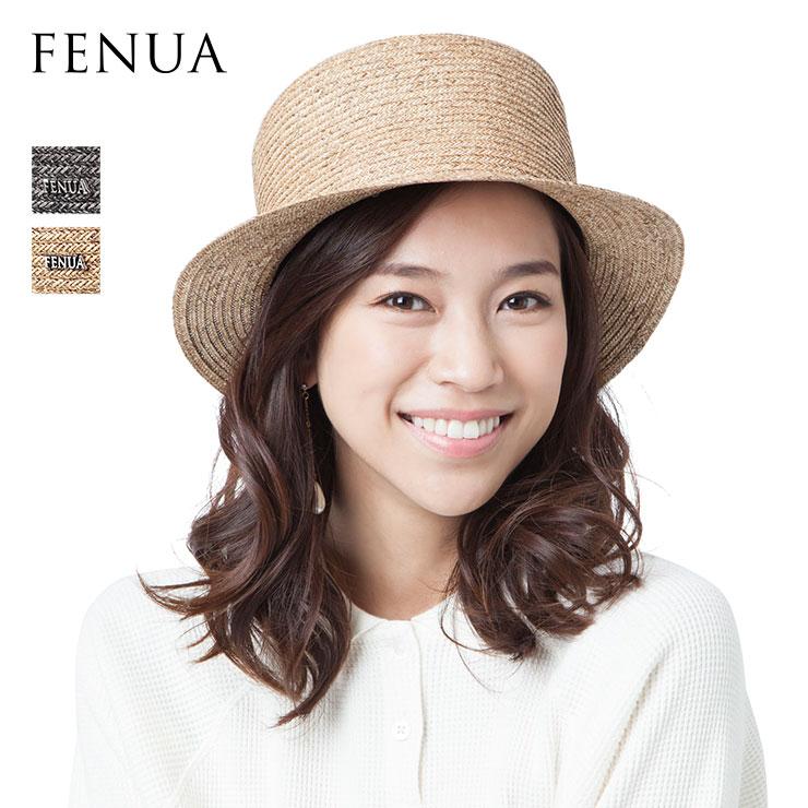 フェヌア ハット KANKAN レディース 日本製 春 夏 カンカン 帽子 麦わら FENUA