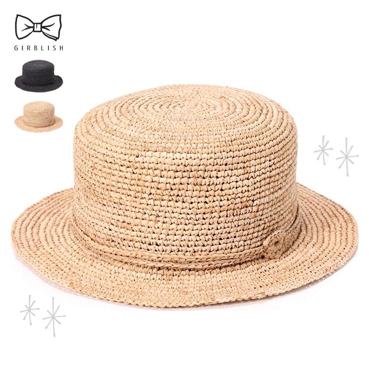 202003SS 新作多数 ガーブリッシュ GIRBLISH 帽子 新作アイテム毎日更新 レディース 麦わら帽子 カンカン帽 夏 春 ラフィア ハット