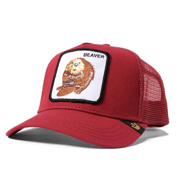 onspotz  Stone phosphorus Brothers mesh cap beaver red GOORIN ... 665b696a344e
