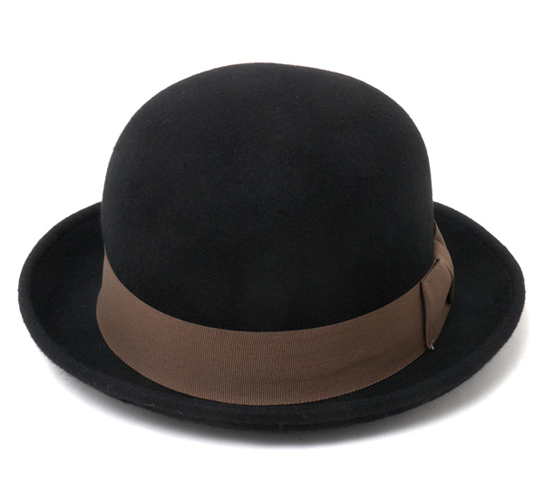 Caballero Boler Hat Bilbao Black Hat CABALLERO BOWLER HAT BILBAO FELT BLACK [large size men's] and [BK] #HA: F