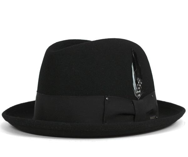 1b3729e0 ベイリー(Bailey Hats)ハット ニューヨーカー 中折れ フェルト ブラック 帽子 HAT NEW YORKER BLACK  メンズ【返品・交換対象外】-ハット