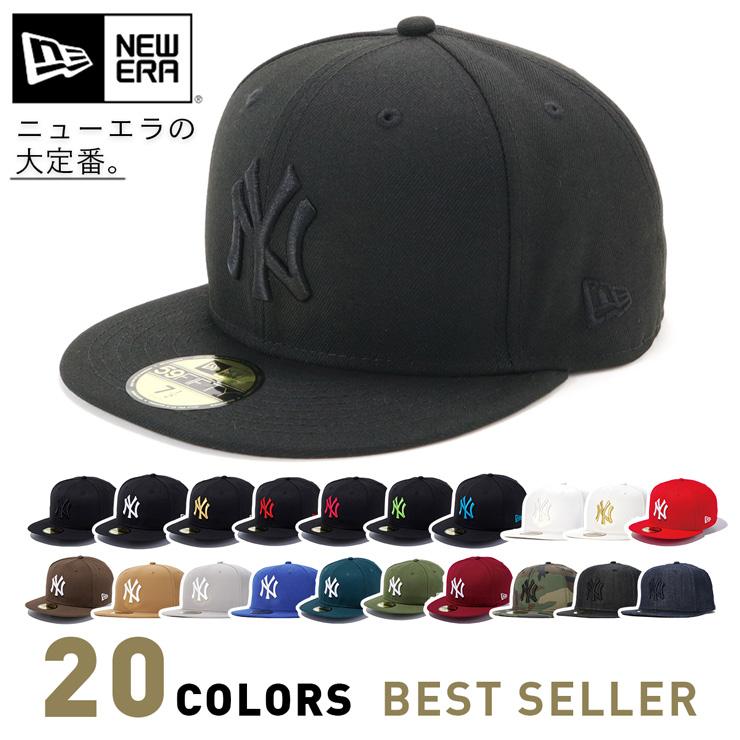 ニューエラ NEW ERA キャップ 59FIFTY 売り込み ニューヨーク ヤンキース ベーシックカラー CAP 帽子 超激安特価 ぼうし 春夏秋冬 ニューヨークヤンキース シンプル ストリート レディース 展開 サイズ おしゃれ メンズ ブランド