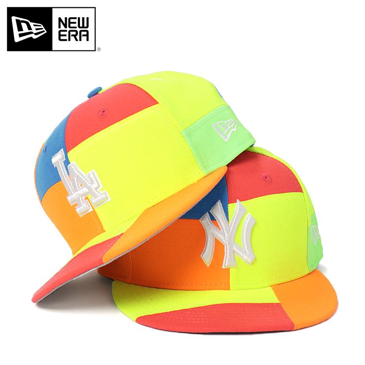 best cheap 30ba7 d7f1a New gills cap snapback 9FIFTY TEAM BLOCKED MLB neon multicolored NEW ERA  ぼうし brand fashion new