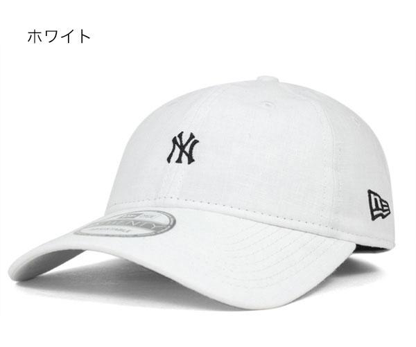 新时代纽约洋基队低背带帽迷你徽标溢价亚麻另一个点注意帽子所有颜色纽埃尔 9TWENTY 帽纽约洋基溢价亚麻 [新时代帽纽约洋基队男子]