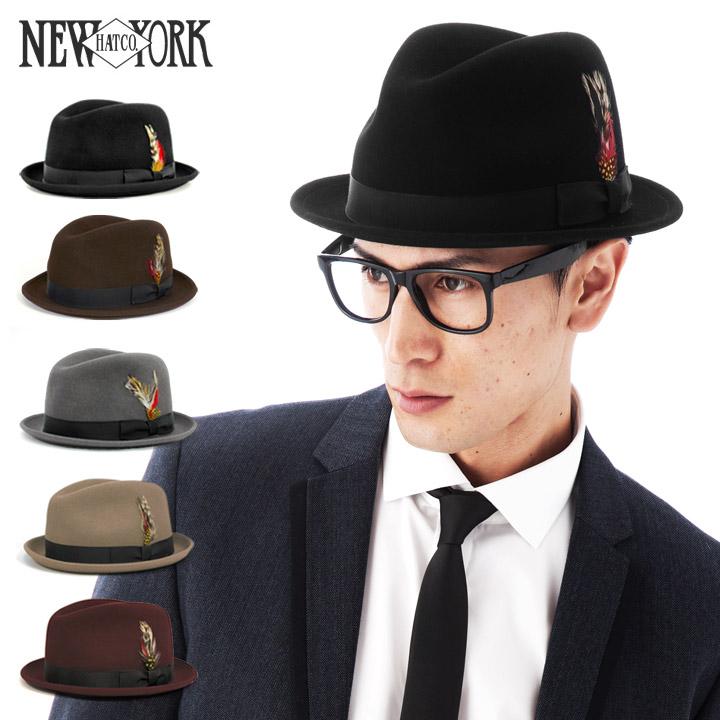 ニューヨークハット(NEW YORK HAT)ライトフェルト ピンチド スティンジー フェドラハット 全5色 LITE FELT PINCHED STINGY FEDORA [帽子 中折れハット メンズ 5325]