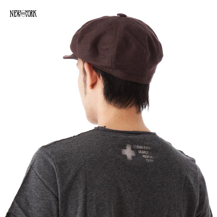 New York Hat linen Cap Brown NEWYORKHAT LINEN SPITFIRE BROWN #CP