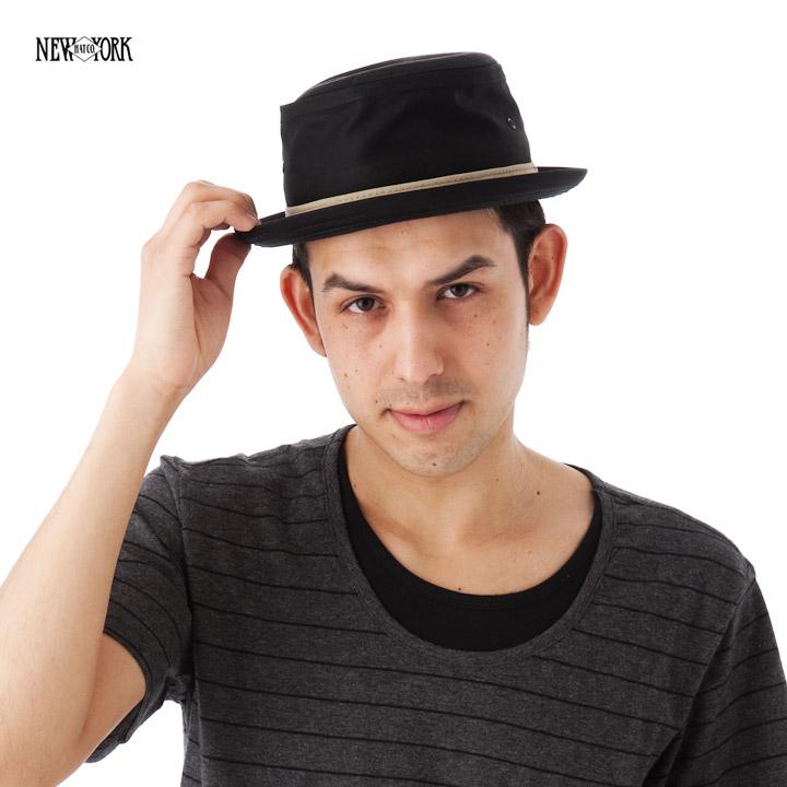 New York Hat cotton スティンジー black NEW YORK HAT COTTON STINGY BLACK
