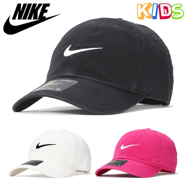 ed4303cabab02 Nike kids cap size adjustment YOUNG ATHLETES SWOOSH HERITAGE NIKE KIDS hat  low cap kids cap brand fashion sports kids hat black white pink black ...
