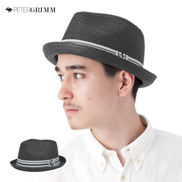 [] 一個斑點彼得格林帽子德普黑帽子 ONSPOTZ 原始彼得格林帽子德普黑色大草帽草編帽子帽大小男士女士和 [BK] #HA 的另一張紙條: S