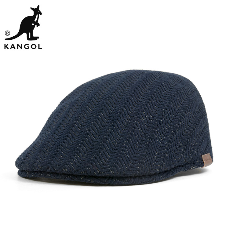 0dcde16f26407e KANGOL Cap herringbone rib dark blue hats KANGOL HUNTING HERRINGBONE RIB  507 DARK BLUE ...
