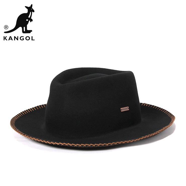カンゴール ハット LITEFELT BLANKET BARCLAY ブラック KANGOL
