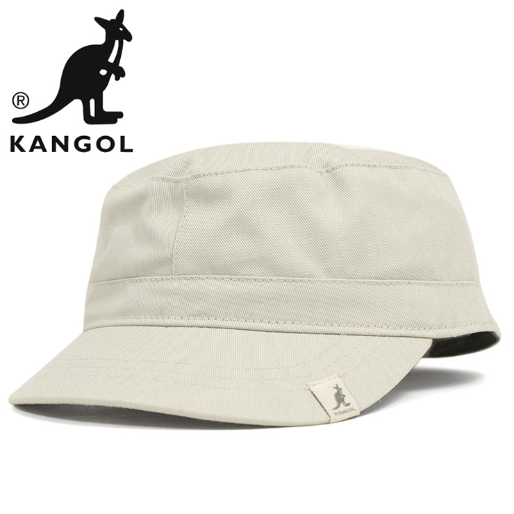 KANGOL Cap cotton Adjustable Cap Army military Cap beige KANGOL COTTON  ADJUSTABLE ARMY CAP BEIGE #CP: W