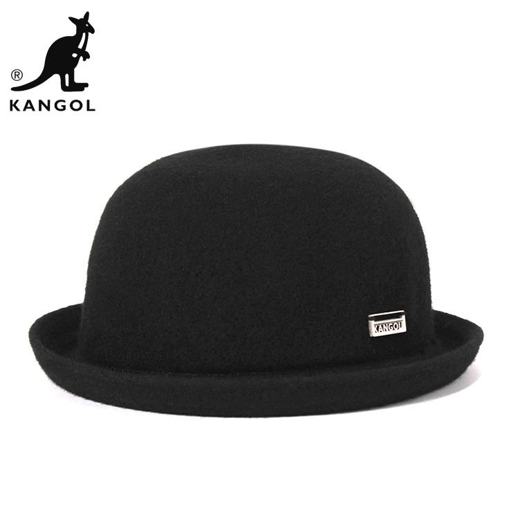 KANGOL wool hat with wool bombing black hats KANGOL WOOL BOMBIN BLACK  Hat  large size mens ladies   BK   HA  O 077431cc669