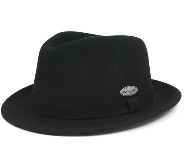 4a5a8811a8d0c KANGOL Hat light felt Hilo Trilby black hats KANGOL HAT LITEFELT HIRO TRILBY  BLACK  large size men s  and  BK   HA  F