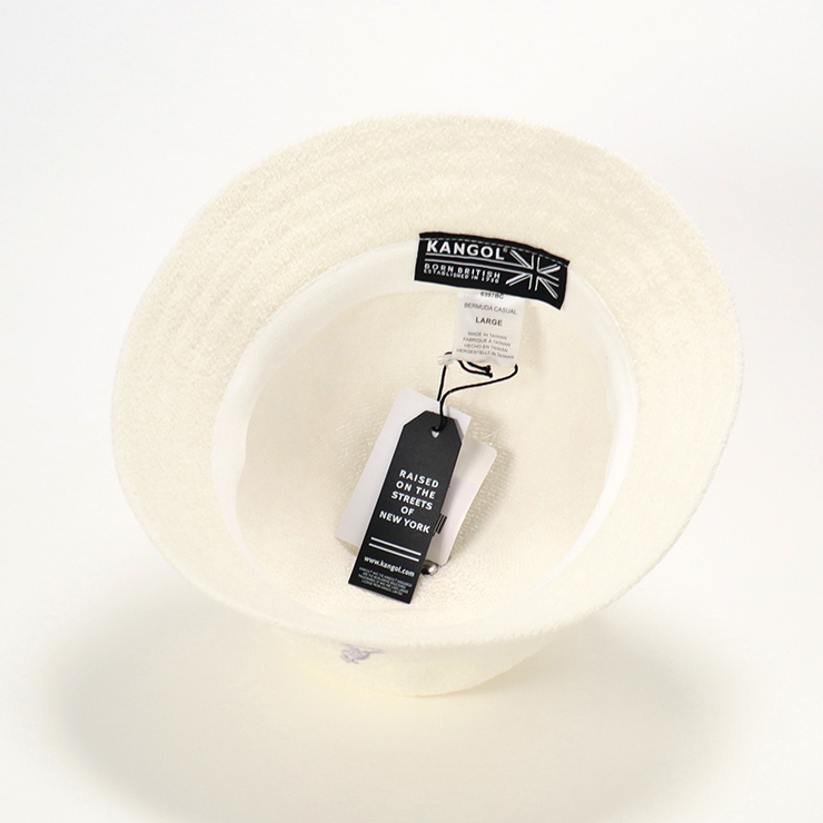 KANGOL 的帽子百慕大休闲白色帽子 KANGOL 百慕大休闲白色 [帽子女士大尺寸男士] [WH] #HA: O