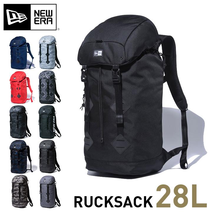 ニューエラ リュック 28Lバッグ メンズ レディース ラックサックNEW ERA NEWERA バックパック RUCK SACK || デイバッグ 大容量 黒リュック リュックサック アウトドア デイパック ブランド メンズリュック 通勤 機能性 赤 黒 通学 ニューエラリュック