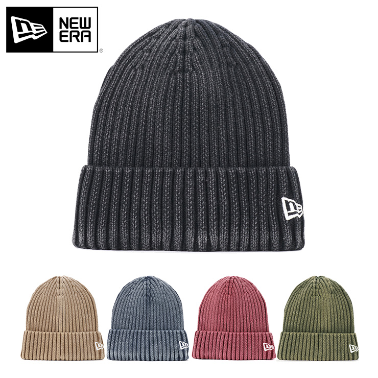 ニューエラ ニット帽 カフ RIB ITALIAN WASH ウォッシュ加工 NEW ERA ぼうし new era ブランド おしゃれ ストリート newera メンズレディース帽子