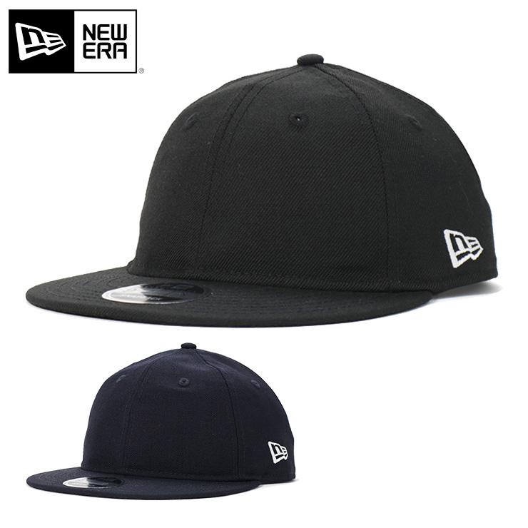 ニューエラ キャップ スナップバック 9FIFTY RETRO CROWN BASIC NEW ERA ぼうし new era ブランド おしゃれ ストリート newera 無地 シンプル メンズキャップ レディースキャップ メンズレディース帽子 黒